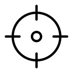 See more icon inspiration related to target, aim, sniper, objective, shooting, business and finance, sports and competition, seo and web and weapons on Flaticon.