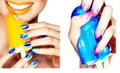 The Kit Summer 2012 Page 32 33 #colourful #nails #love #blue #crush