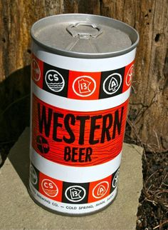 "Vintage Beer Can ""Western Beer"" #vintage packaging"