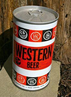 """Vintage Beer Can """"Western Beer"""""""