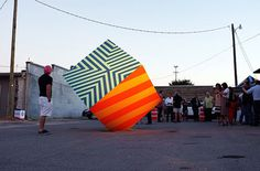 Colorful Street Art Installations by Maser-12 #street art #maser #installation #colour
