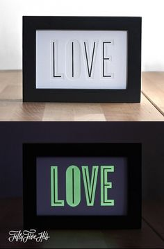 Live & Love Glow in the Dark Print |Â 55 Hi's #live #in #print #the #glow #dark #love #typography