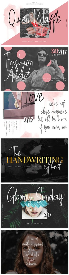Queen Waffle – Fancy Handwriting