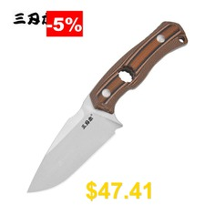 SanRenMu #S725-P #Full #Tang #Strong #Hunter #Knife #14C28N #Stainless #Steel #G10 #Knife #Handle #Material