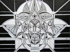 Deco Art mixed media by Nadja Christin #artdeco #starwars #black #white #drawing #painting #illustration