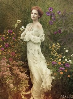 Jessica Chastain by Annie Leibovitz #fashion #photography #inspiration