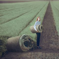 Oleg Oprisco's Stylized Photography Indulges the Fantasy of Escape | Hi-Fructose Magazine #stylish #field #turf #escape #grass #photography #beauty