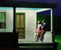 """Summer Evening"" a romantic painting by Edward Hopper #oil #painting #paintings"