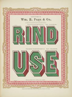 Specimens of chromatic wood type, borders 1874 [via Columbia U] (Rind + Use) Gothic paneled No.2 type #chromatic #print #wood #type #decorative #typography