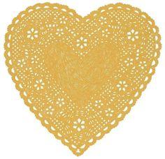 coqueterías #heart #papercut #beige #doily