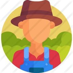See more icon inspiration related to professions and jobs, gardener, profession, farmer, occupation, job, user, farm, hat and man on Flaticon.