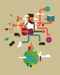 Busy_life.jpg #illustration #vector #schlitz #danny