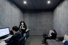 Dezeen » Blog Archive » Logan Offices by SO-IL #interiors #acoustic #grey
