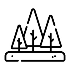 See more icon inspiration related to forest, woodland, ecology and environment, pines, trees, woods, landscape and nature on Flaticon.