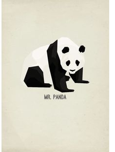 Mr Panda - poster #vector #print #panda #paper #illustration #gif #poster #animal