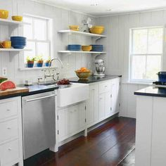 Kitchen Cabinets for a Small Galley Kitchen #small #a #kitchen #for #cabinets #galley