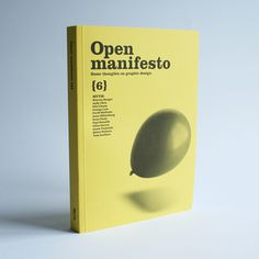 Open Manifesto #6 - black and white photography on coloured background. Single object.