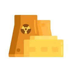 See more icon inspiration related to nuclear, architecture and city, nuclear power, nuclear plant, power plant, cooling tower, chimney, radiation, dangerous, industry, factory, radioactive, buildings, energy and signs on Flaticon.