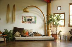 interior, plants, pillow, space