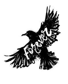 Forever Art Print #white #design #& #black #illustration #art #type #typography