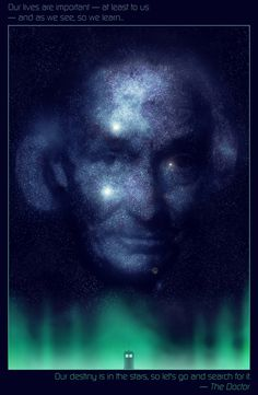 Doctor Who William Hartnell in the Stars by Abel MVada http://abelmvada.tumblr.com #stars