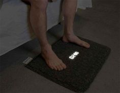 Carpet Alarm Clock. Turn it off by planting both... #haha