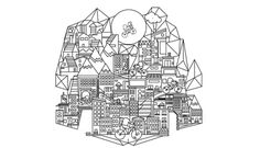 Home by Carlos Menna #poster  #geometric #design #city #mexico #menna