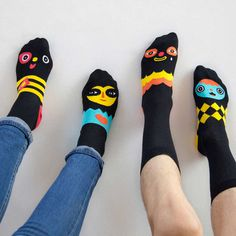 Chattyfeet Socks on Behance #socks #fun #faces