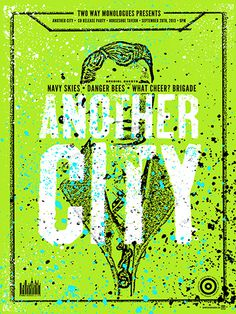GigPosters.com Another City Navy Skies Danger Bees What Cheer? Brigade