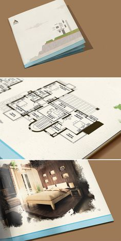 Gouna and Joubal #illustrative #brochure #architecture