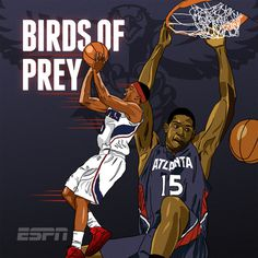 ESPN NBA Illustrations on Behance #hawks #nba #bird #atlanta #illustration #espn #horford #drawing #basketball #teague
