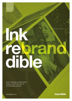 Typography Poster - inkredible rebrand #creative #typography #design #posters #green