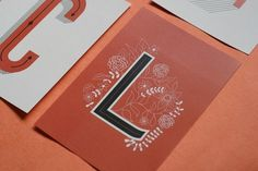 betype: Decorative Lettering Postcards by Rachel Brown #type #print #illustrations #typography
