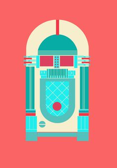 objects on Behance #graphics #illustration #retro #colourful #jukebox #yasemin yildirim