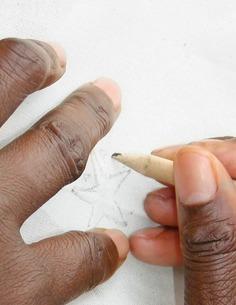 PENDUKA context embroidery preperation