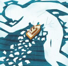 grain edit · Robert Hunter #illustration #vintage #water #ice