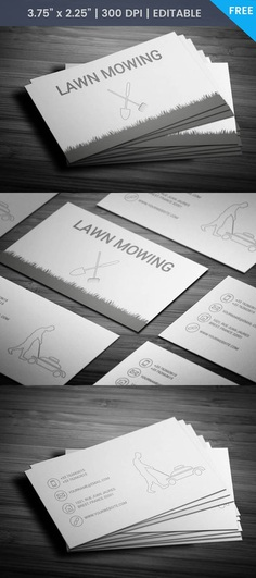 Free Grass Cutting Business Business Card Template