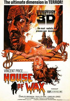 House of Wax.....1953 #illustration #retro #movie #poster