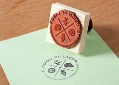 Mikey Burton / Graphic Design, Illustration and Letterpress #stamp #design #graphic #rubber