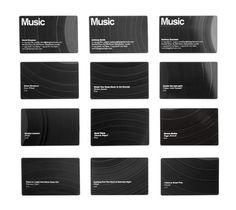 music-business-cards.jpeg 500×446 pixels #recycle #white #business #serif #print #design #sans #black #identity #music #cards
