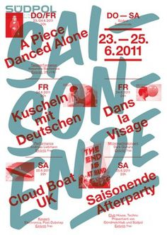 Südpol-Plakate #music #experimental #poster #typography