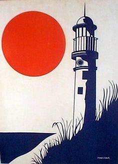 Marushka lighthouse #illustration #sea #light