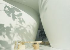 House in a Forest / Paul Kaloustian #interiors #spaces #curved walls