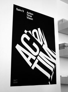 Action Time Vision #typography #poster