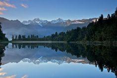 Beautiful Reflection Shots in Lake Matheson | Cuded #shots #matheson #reflection #lake #beautiful