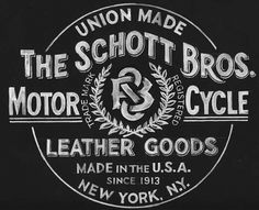 SCHOTT BROS. #mark #union #york #logo #motorcycle #new