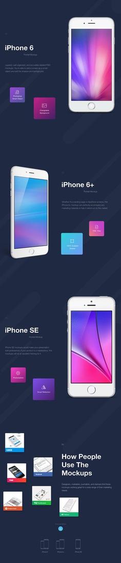 iPhone Mockups PSD