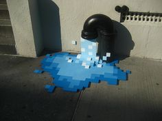 Blackbeltjones/Work: » Physical/Digital #graffiti #pixels