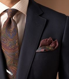 The Power of Paisley – Style & Matching Tips for Paisley Ties #tie #menswear #paisely