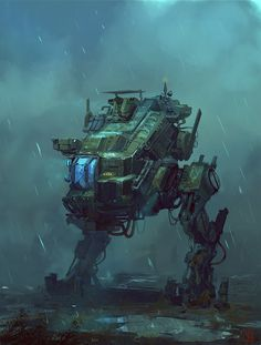 Walker by donbot #machine #robot #futuristic #fi #space #sci #mechanical #mech #walker #technology